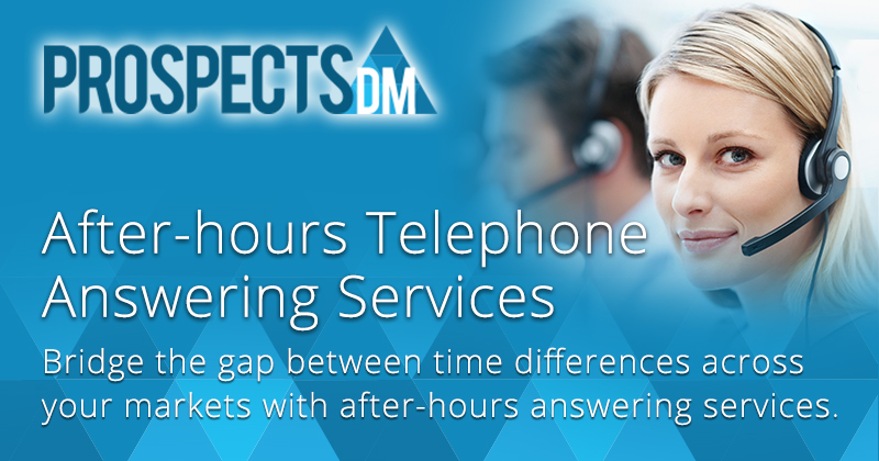 After hours telephone answering services 24/7